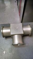 Leybold Heraeus  HD VACUUM FITTING TEE Flange Size KF40 NW40 Stainless Steel