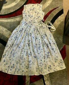 Vintage 1980s Laura Ashley Floral Cotton Dress Size 14