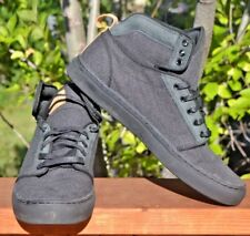 New Vans Ultracush Men's Size 11 Gray Canvas & Suede High Top Shoes Sneakers