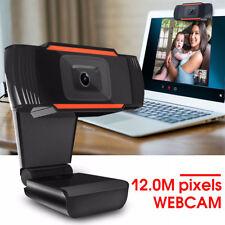 HD 12 Megapixels USB 2.0 Webcam Camera with MIC Clip-on for PC Laptops UK Hot