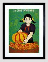 POLITICAL ECONOMY YOUTH FRUIT FOOD PRODUCE VIETNAM FRAMED ART PRINT B12X4523