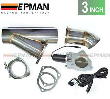 "3"" inch Exhaust Bypass Valve electric stainless remote cut out y-pipe dump cat"