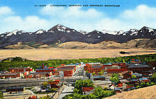 "Mt Montana: ""Livingston and Absaroka Mountains"" Unposted Ec Kropp Linen Card"