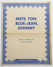 Partition vintage sheet music BACH YEN : Mets Ton Blue-Jean, Johnny * 60's