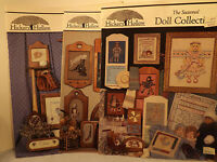 Hickory Hollow Cross Stitch Pattern Leaflets Lot of 3 Doll Collection Home Seen