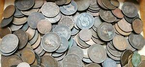 gros lot de 297 monnaies en cuivre étrangères à découvrir! 2 kilos