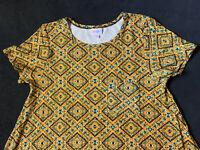 LuLaRoe Carly Small S Yellow Tribal Print Super Soft Leggings Material Sz S