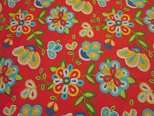 Navajo Indian Beaded Like Floral Colors Terracotta Print Cotton Fabric BTHY