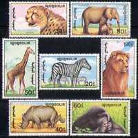 Mongolia 1991 Animals/Nature/Wildlife/Giraffe 7v n15606
