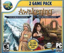 Awakening THE SKYWARD CASTLE + THE GOBLIN KINGDOM Hidden Object PC Game DVD NEW