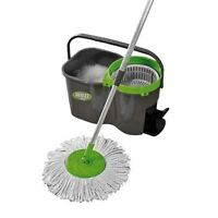 JML Whizz Super Absorbent Microfibre Spin Mop and Bucket Set Home Cleaning