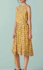 FINERY Springdale Acid flower dress size 8 --BRAND NEW-- dip hem below knee