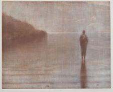 Louise TOMLINSON original signed etching - pastel, textural landscape