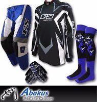 YOUTH MX MOTOCROSS JERSEY+PANTS+GLOVES*BLUE*Dirt Bike Gear/BMX/Off-road/Junior