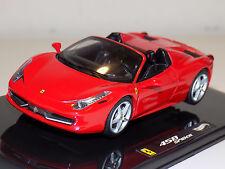 1/43 Mattell Hot Wheels 2011 Street Ferrari 458 Spider in Red W1182