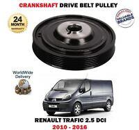 FOR RENAULT TRAFIC 2.5 DCI 115 145 2010 > NEW CRANKSHAFT BELT DRIVE PULLEY