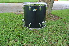 "1980 LUDWIG NAVY BLUE IMRON / BLACK CORTEX 16"" FLOOR TOM to YOUR DRUM SET! #A399"