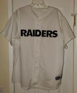 Vintage Majestic Oakland Raiders Baseball Football Jersey