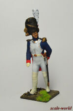 Tin soldier, miniature. Ober-officer of the Dutch grenadiers. France, 1812 54 mm