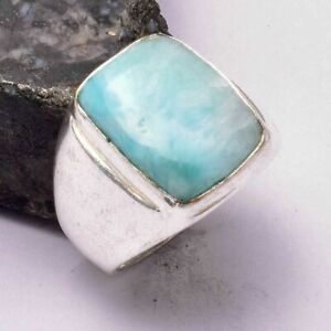 Larimar Ethnic Handmade Man's Ring Jewelry US Size-8 AR 31281