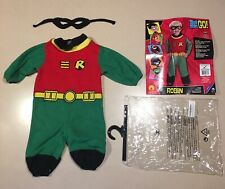 Robin Infant Halloween Costume 6 12 Months with Cape and Mask Batman Teen Titans