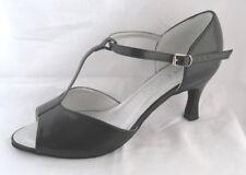 Señoras Negras Salón de Baile, Latino, Salsa, Tango, Jive Zapatos De Baile-UK Size 5.5
