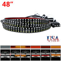 LED Truck Tailgate Light Bar 48inch Brake Tail Reverse Strip Turn Signal Stop US