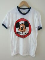 Mickey Mouse Club Disney Mens T Shirt Size M Ringer Tee 1980s Single Stitch