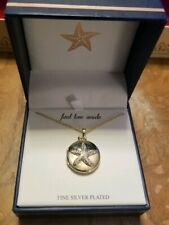 """Gold Starfish Locket Necklace 16"""" Chain ~ Gold over Silver Plate MSRP $60 NIB"""