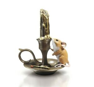Mouse on Candlestick - Hand Painted - Michael Simpson.