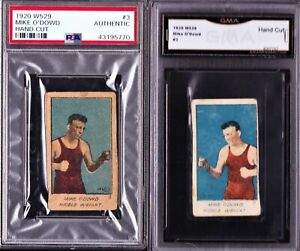 RARE REVERSE LOT PSA GMA 1920 W529 #3 MIKE O'DOWD STRIP BOXING CARD VARIATIONS
