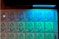 US Stamp SC#2169b 2c Lyon Sheet of 100  First Row Tagging Omitted Rare