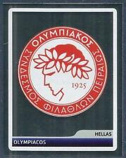 PANINI UEFA CHAMPIONS LEAGUE 2006-07- #311-OLYMPIACOS TEAM BADGE-SILVER FOIL