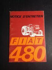 Tracteur - Fiat 480 - Trattori - Notice - Manuel d'entretien - B17