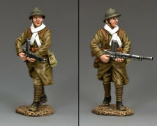 KING & COUNTRY FIELDS OF BATTLE FOB115 FRENCH POILU MARCHING MACHINE GUNNER MIB