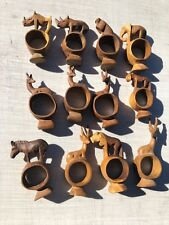 "Wooden Animal Carving, 4 1/2"", Hand Carved, Napkin Holder (Lot 12)"