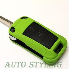 GREEN Key Fob Cover Flip remoto caso scafo involucro Alloggiamento 2 3 pulsante PORSCHE 44