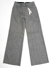 Marks & Spencer RRP £35 Wool Blend Wide Leg Trousers Size 8 Work Smart Casual
