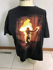 "Rammstein ""Burning Man"" Vintage 1998 T-Shirt Rare Blue Grape"