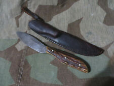 Othello Yukon Hunter Solingen Germany Fixed Blade Stag Hunting Knife GC Co