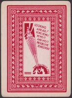 Playing Cards 1 Single Card Old Art Deco GLOUCESTER HOTEL Hong Kong Advertising