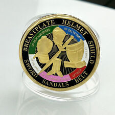 Put On The Whole Armor Of God Ephesians 6:13-17 Enamel Medal Challenge Coin