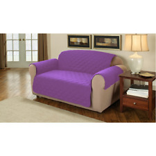 Purple 1 Seater Furniture Protector Quilted Cotton Twill Sofa / Armchair Cover