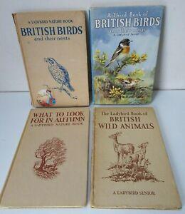 Vintage 1950s 4 x Ladybird Senior Books Autumn/British Birds Nests/Wild Animals