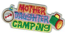 Girl MOTHER DAUGHTER CAMPING Fun Patches Crests Badges SCOUTS GUIDES camp out