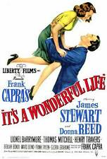 "It'S A Wonderful Life Movie Promo Poster Carl ""Alfalfa"" Switzer James Stewart"