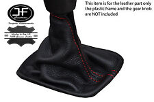 RED STITCHING MANUAL LEATHER SKIN GEAR GAITER FITS VOLVO C30 C70 S40 V50
