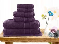 Brand New  Soft Touch 7 Piece 100% Cotton Bath Towel Set - Aubergine