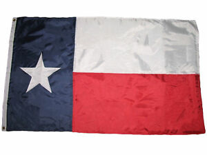 5x8 Embroidered Sewn State of Texas Nylon Flag 5'x8' Banner Star (Made in USA)