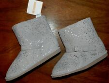 Winter Boots Gymboree Gray Sparkle Girl size 2 New